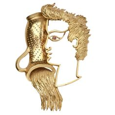 A gold brooch portraying a water-carrier, symbol of the zodiacal sign of Aquarius; designed by Jean Coctea and made by Fred, 1950s.(jewelry.1stdibs.com)
