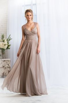 Taupe flowy dress