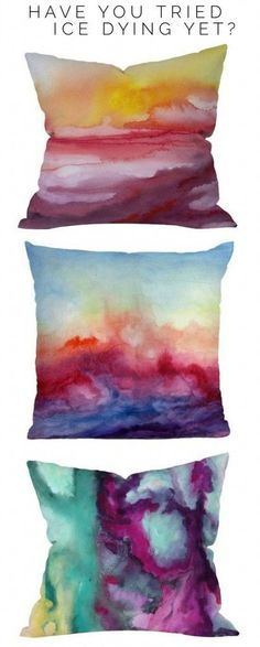 DIY ~ Pillows w/ Sharpie & Alcohol--looks like watercolor. Just draw in Sharpies and spray with rubbing alcohol Diy Projects To Try, Crafts To Do, Sewing Projects, Arts And Crafts, Decor Crafts, Kids Crafts, Cool Art Projects, Summer Crafts, Sharpie Nail Art