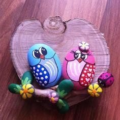#taş#boyama #mutluluk #sevgi#baykuş