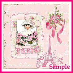 Paris Pink Collette Kleenex brand Tissue Box por SenecaPondCrafts, $1.50