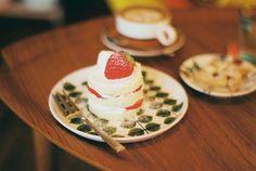 something sweet. strawberry dessert