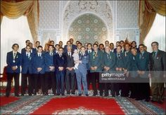 King Mohamed Vi With Son Prince Moulay Hassan: Receiving Football Team Of Morocco In Marrakech, Morocco On March, 2004