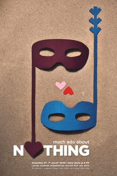 Much Ado About Nothing Poster Play Poster, Poster Art, Poster Ideas, Shakespeare Theatre, Shakespeare Plays, William Shakespeare, Magazine Design, Romeo Y Julieta, English Classroom
