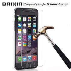 """0.3mm 2.5D Ultra-thin Tempered Glass Screen Protector for iPhone 4 4s 5 5c 5s SE 6 6s plus for iphone 6 6 s 4.7""""  Cleaning kits -- Want to know more, click on the image."""