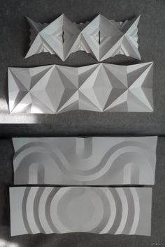 """пропедевтика """"пластика поверхностей, бумага"""" одни из самых простых примеров, что можно сделать с бумагой :D  если тема вам интересна, то в комменты я выложу описания, как это все сделать :))"""