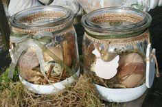 Einmachglas - Osternest: Holzhühner am Eiernest von Deko-TU-Shop auf DaWanda.com