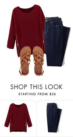 """""""casual"""" by madihahnas ❤ liked on Polyvore featuring WithChic, Lands' End and Billabong"""