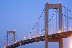 Walt Whitman Bridge | Walt Whitman Bridge At Dusk,