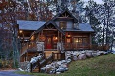 Forest house. I fall more in love with this one every time I see it. *sigh* Dreaming.
