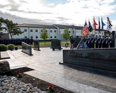 Staff at U.S. Coast Guard Training Center Cape May hold a Memorial Day observance on base at the Coast Guard Enlisted Memorial. Coast Guard Training, Patriotic Poems, Cape May, Training Center, Memorial Day, United States, America, Base, Memories