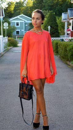 street style - cape dress
