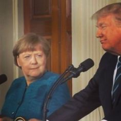 "We feel the same way, Ms. Merkel. 5,131 Likes, 202 Comments - Michael Moore (@michaelfmoore) on Instagram: """"I thought you said I was going to meet the new President of the United States! This is Donald…"""