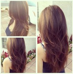 Popular Long Hairstyles with Layers for Women : Long Hairstyles with Layers Back View