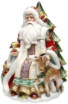 Victorian Santa Christmas Cookie Jar