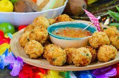 Krokiety z dorsza z pikantnym sosem ananasowym - wypróbuj sprawdzony przepis. #smacznastrona #tesco #przepis #dorsz #krokiery #ananas #mniam #kulinaria
