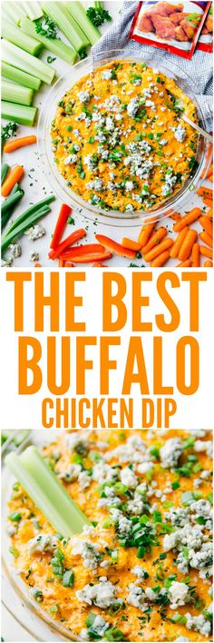 This Buffalo Chicken Dip is the absolute best! Fully loaded with chopped chicken, three types of cheeses, sour cream, and McCormick Buffalo Seasonings, this dip has the spicy hot sauce flavor that you love!