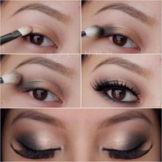 Trendy Makeup Ideas – Smokey Eyes : Super Sexy Brown/gold Smokey Eye For All Eye Colors And Types! Please Like If Yo… Soft Smokey Eye, Smokey Eye Makeup, Skin Makeup, Love Makeup, Makeup Tips, Beauty Makeup, Makeup Looks, Makeup Ideas, Makeup Style