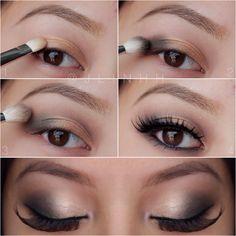 Soft romantic smokey eye