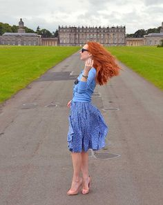 A windy day at Hopetoun House, Scotland