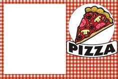 Pizza – Kit Completo com molduras para convites, rótulos para guloseimas, lembrancinhas e imagens!  Fazendo a Nossa Festa