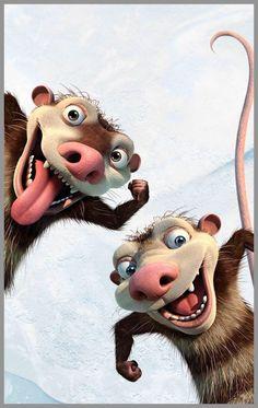 Crash y Eddie! Disney Kunst, Disney Art, Disney Movies, Disney Pixar, Walt Disney, Cartoon Kunst, Cartoon Art, Wallpaper Bonitos, Ice Age Movies