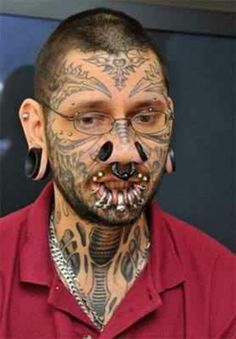 Exact extreme tattoos and piercings
