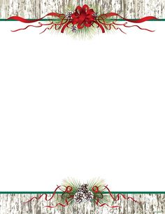 Exceptional Buy Christmas Letterhead Pinecones U0026 Ribbon, By Geographics. Save With DIY  Christmas Stationery Free Word Templates, Clip Art, Wording And  Iclicknprint.