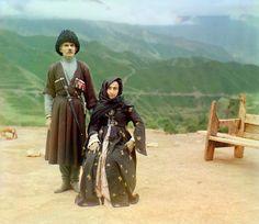 Dagestani couple, 1904, Prokudin-Gorskii
