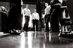 Cool shot of groomsmen