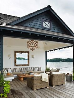 lakeside porch.  House & Home