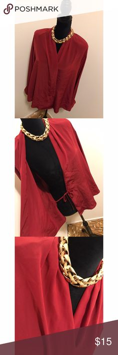Deep Red Vintage Blouse Needs a small button Tops Blouses