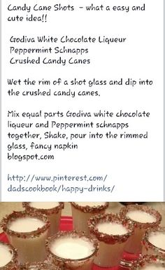 ... Shots on Pinterest | Candy Canes, Jelly Shots and Holiday Cocktails