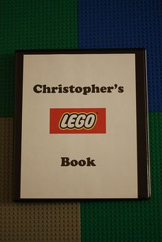 lego instruction book... We brought along Christopher's Lego book.  It's a three ring binder with Lego directions printed out and put in page protectors.  Check out the link on the Lego website for tons of downloadables.