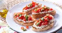 Bruschetta Edgell Cannellini Beans by Better Homes and Gardens Australia. Lunch Recipes, Breakfast Recipes, Dinner Recipes, Cooking Recipes, Tomato Bruschetta, Best Italian Recipes, Quick Meals, Salmon Burgers