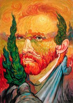 Love this recreation by Oleg Shuplyak of Vincent van Gogh's self portrait - Justin's posterous