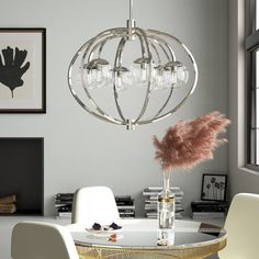 15 Stores Like Pottery Barn With Home Decor That's Sinfully Good Decor, Globe Chandelier, Steel Fixtures, Beautiful Chandelier, All Modern, Home Decor, Chandelier, Globe Lights, Chandelier Shades