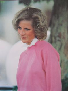 June 28, 1984: Princess Diana at a polo match, Cirencester, Gloucestershire.