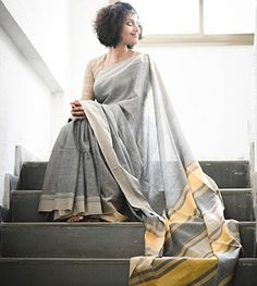 Handloom Grey And Beige By Suta - PC - 15631