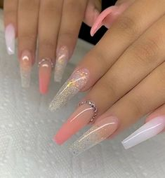 In this article, we collect The Most Popular Nail Design for Coffin Nails. These coffin nails are beautiful in color, design, and shape, and will certainly give you the greatest inspiration. Nails The Most Popular Nail Design for Coffin Nails Summer Acrylic Nails, Best Acrylic Nails, Coffin Nails Long, Long Nails, Long Nail Art, Long Cute Nails, Pointy Nails, Nails Short, Perfect Nails