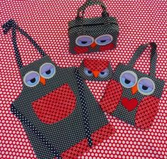 Oh my gosh this is some super cute owl crafts! Apron, tote, clutch and zipper bag wow Owls