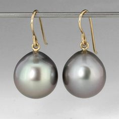 Tahitian Pearl Earrings,Maria Beaulieu