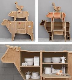 packing crate cow sideboard