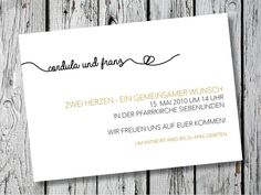 Individuelle Hochzeitseinladung | Endless Love