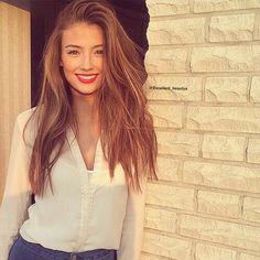 Image via We Heart It #girl #hair #lips #lorenarae