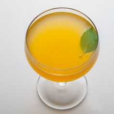"""Herb is the Word"" - Lemon Basil and Whiskey Cocktail.- Make Drink Editor, Jim Meehan's herby cocktail."