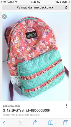 Mia's back pack ordered August 2015