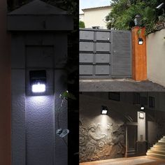 Solar Lights, LTE 20 LED Outdoor Wireless Solar Powered PIR Motion Sensor Security Wall Light Lamp with two Intelligent Modes for Garden, Patio and Pathway (Set of 2) - - Amazon.com