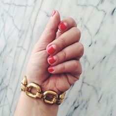 Negative Space Red Mani: a classic red mani with a little twist by @elliemiz #Sephora #nails #nailspotting