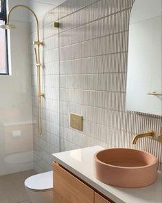 Concrete Sinks In 14 Dreamy Colours—Get A Modern Nood Co Basin Art Deco Bathroom, Bathroom Basin, Bathroom Renos, Bathroom Fixtures, Modern Bathroom, Bathroom Inspo, Concrete Basin, Small Bathroom With Shower, Basin Design